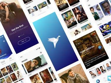 BollyWood Movies Trailer App Design