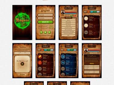 Maguss - App (mobile game) design