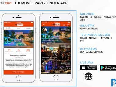 The Move - Party Finder App