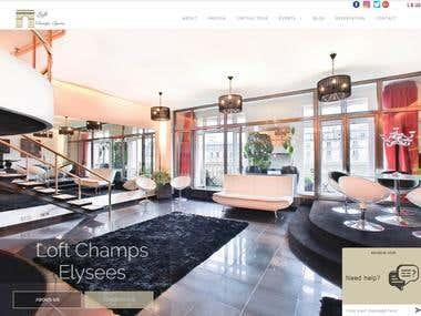Paris Loft website