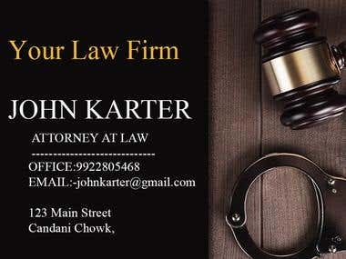 Advocate card