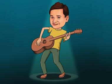 Caricature for customer