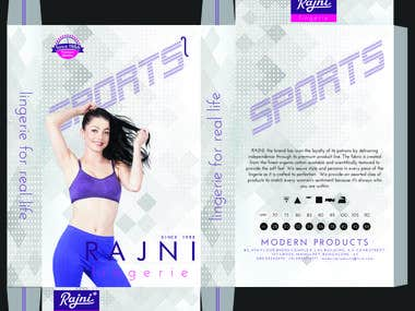 sport bra packaging box