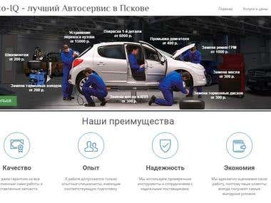 Car service website