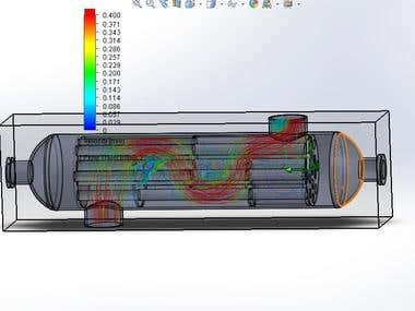 Analysis and simulation using Ansys, Solidworks,CATIA
