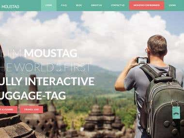 Wordpress travel for interactive luggage tags website