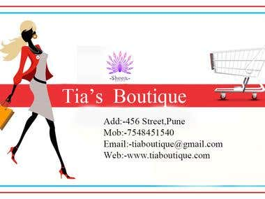 Boutique card