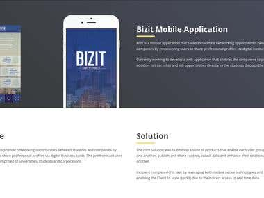 Bizit Mobile Application