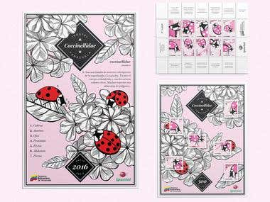 Coccinellidae Postal Stamps