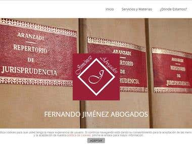 Jimenez Abogados: Spanish Law firm website