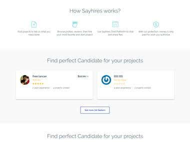 SayHires.com ( Job Listing website like Freelance & Upwork )