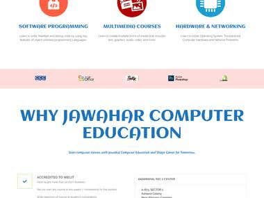 Jawahar Computer Education Website Development and designing