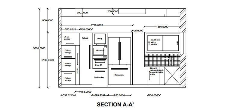 Kitchen Design And Layout In Autocad 2d Freelancer