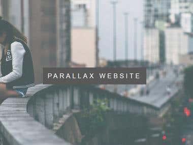 parallax web site