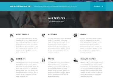 Freezway Car rental service - Wordpress website development