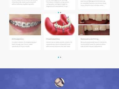 Dental Care Center - WordPress Website and appointment app