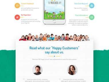 The Preschool App Landing Page