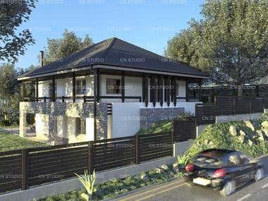 House Design - Exterior Render