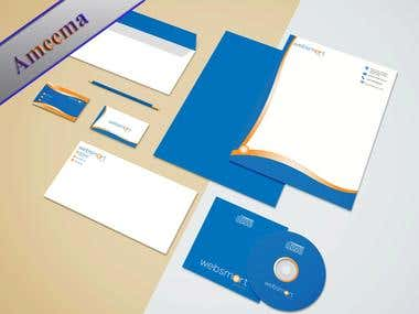 Websmart Solutation Company Stationary Design