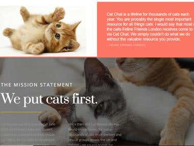 Cat Charity Website