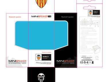 Packaging Altavoces Valencia F.C.