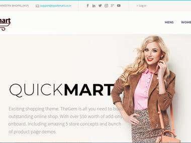 Ecommerce : Quickmart