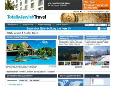 Totally Jewish Travel Website