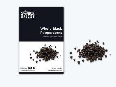 Black Peppercorn product label