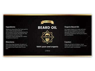 Beard Oil Product label