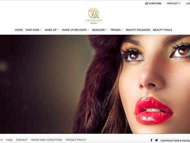 Beauty products ecommerce store