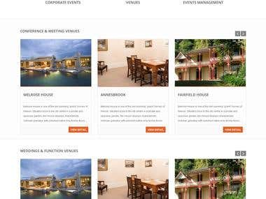Joomla Website for Nelson Venues