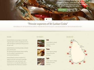 seafoodmasters.lk : Wordpress website
