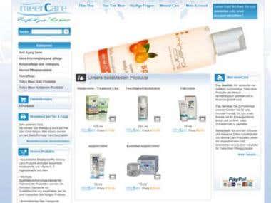 Totes Meer Produkte Website