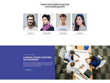 CRAFTING DIGITAL AGENCY   Responsive HTML CSS Website