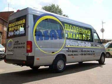 Stickers for minibus