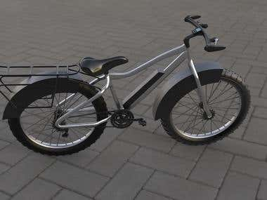 3d model and render for a bicycle