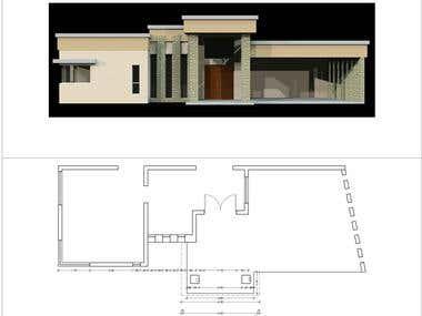 Diseño para frente de una casa / Exterior house design