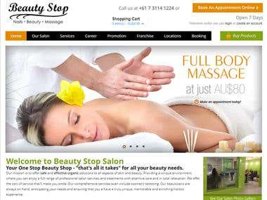 Beauty Salon & Online Store built in Open Cart