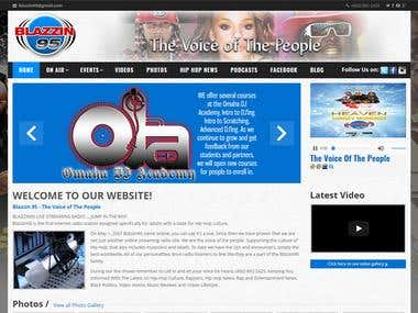 Radio/Music station website build in Custom CMS (PHP/MySQL)