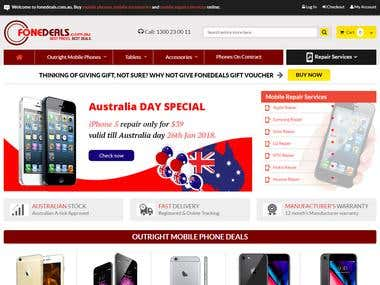 Mobile Phones e-Commerce website build in Magento