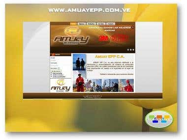 Diseño web www.amuayepp.com.ve
