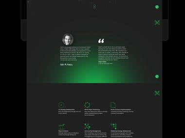 Crypto advisor - Web design & personal branding