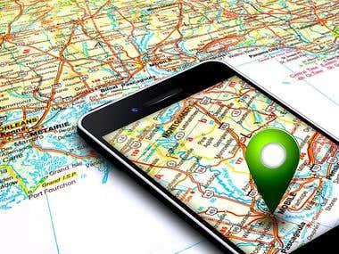 Google Map & GPS Tracking App