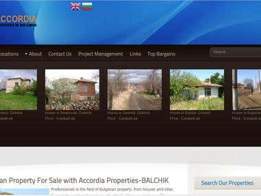 Onpage optimization for Accordia Properties Bulgaria