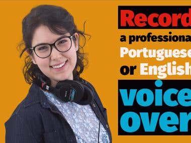Pro Portuguese and English Voice Over