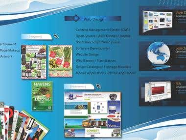 Graphi Design, Electronic Print Media and Web Design