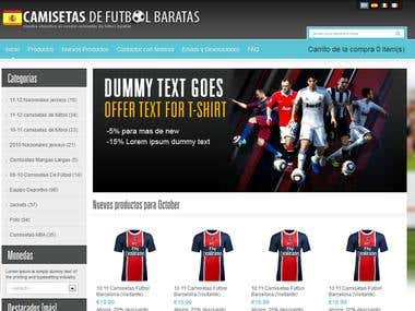 Spain Futball store web project - oscommerce