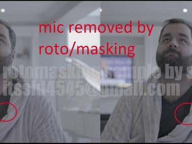 ROTO / MASKING / TRACKING ON A VIDEO