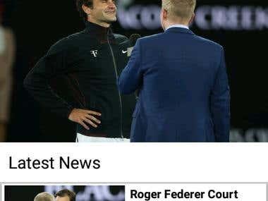 Roger Federer News Application