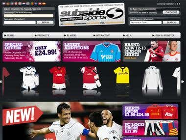 Subside sports ecommerce store
